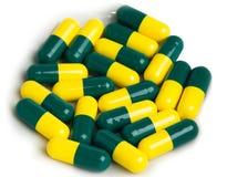 Drug capsules isolated on white background Stock Image