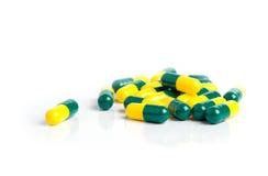 Drug capsules isolated on white background Stock Photos