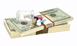 Drug Costs Royalty Free Stock Photos