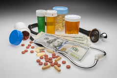 Drug costs. Cost of drugs is going up and making our health care system unsustainable Stock Photos