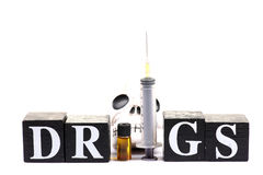 Drug danger Royalty Free Stock Photos