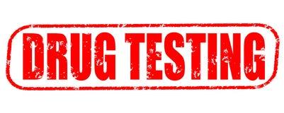 Drug die rode zegel testen stock afbeelding