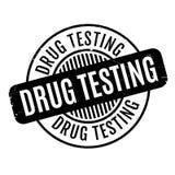 Drug die rubberzegel testen Royalty-vrije Stock Afbeelding