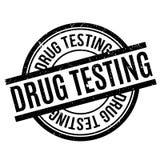 Drug die rubberzegel testen Stock Afbeeldingen