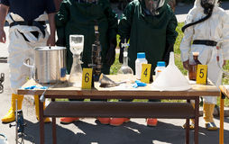 Drug enforcement team uncovers meth lab Royalty Free Stock Photo
