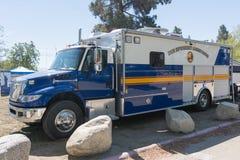 Drug enforcement truck during Los Angeles American Heroes Air Sh Stock Photos