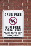 Drug Free and Gun Free Zone Royalty Free Stock Photos