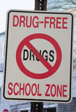Drug Free School Zone Royalty Free Stock Images