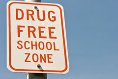 Drug Free School Zone Sign Stock Images