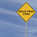 Drug Free Zone Stock Photo