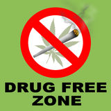 Drug Free Zone. A drug free zone sign Stock Image