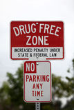 Drug Free Zone Sign Stock Images