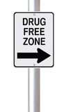 Drug Free Zone This Way Royalty Free Stock Photography