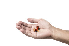 Drug in hand, Drug concept Royalty Free Stock Photography