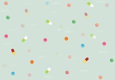 Drug het multicolored van letters voorzien op de achtergrond vector, Illustratie Royalty-vrije Stock Afbeelding