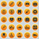 Drug Icons Set. Collection stock photo