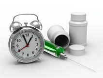 Drug intake under schedule Stock Photo