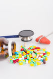 Drug with medical tool Stock Images