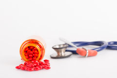 Drug with medical tool Stock Photo