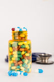 Drug with medical tool Royalty Free Stock Images