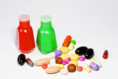 Drug and medicine bottle Royalty Free Stock Photography