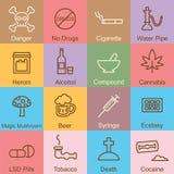 Drug outline design Stock Image
