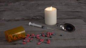 Drug paraphernalia stock video footage