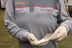 Drug, Police Officer Seized, Gun, Austria, Royalty Free Stock Images