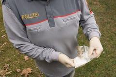Drug, Police Officer Seized, Gun, Austria, Stock Images