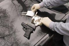 Drug, Police Officer Seized, Gun, Austria, Royalty Free Stock Photography