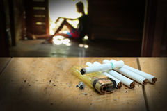 Drug problems. The concept of drug problems in youth Royalty Free Stock Image