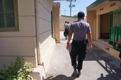 Drug raid. Police conducted a drug raid at a motel in Karanganyar, Central Java, Indonesia to suppress crime Royalty Free Stock Photos