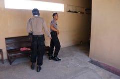 Drug raid. Police conducted a drug raid at a motel in Karanganyar, Central Java, Indonesia to suppress crime Stock Images