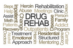 Drug Rehab Word Cloud Stock Images
