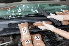 Drug smuggling Royalty Free Stock Photo