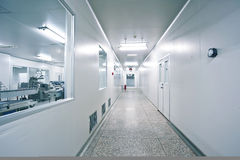 Drug sterile workshop corridor Royalty Free Stock Photo