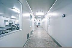 Drug sterile workshop corridor Royalty Free Stock Photo