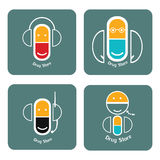 Drug store icons set Royalty Free Stock Photo