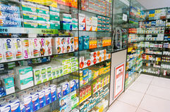 Drug store in Romania Royalty Free Stock Image