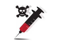 Drug in syringe Stock Photos