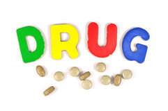 Drug tablet Royalty Free Stock Image