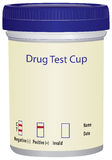 Drug Test Cup. Plastic cup to test for drugs. Vector illustration Royalty Free Stock Photography