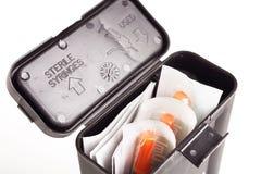 Drug User Syringe and Needle Kit Royalty Free Stock Photos