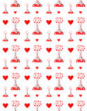Drug van liefdepatroon Royalty-vrije Stock Afbeeldingen