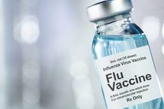 Free Drug Vial With Influenza Vaccine Stock Image - 155685961