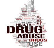 Drug word cloud Stock Photos