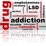 Drug word cloud vector illustration