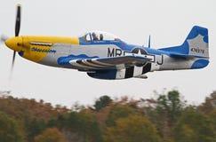 Druga Wojna Światowa P-51 Mustanga Myśliwiec Zdjęcie Royalty Free