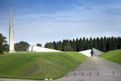 Druga Wojna Światowa pomnik na Maryjnym wzgórzu Maarjamae w okręgu Pirita, Tallinn kapitał Estonia Fotografia Royalty Free