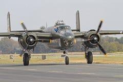 Druga Wojna Światowa B-25 Mitchell Bombowiec Samolot Obrazy Royalty Free